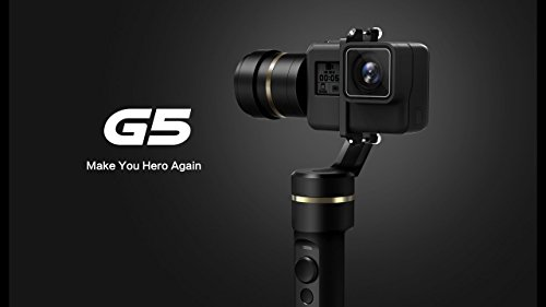Feiyu G53-Achsen-Handheld Gimbal Action-Kamera Stabilisator spritzwassergeschützt für GoPro Hero5hero4Hero3Für Yi Cam 4K Action Kameras +...