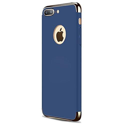 iPhone 7Plus Fall, ibarbe 3in 1Hybrid-Halterung Dünn und Slim Hard-PC Schutzhülle Beschichtet Rutschfeste Matt Oberfläche mit Glitzer Galvanisiert Rahmen Schutz Shell Karte Cover