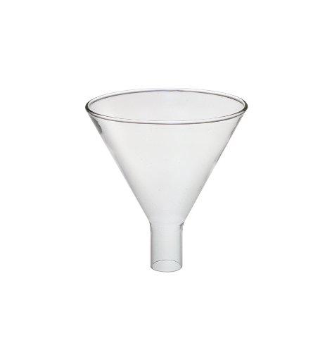 Pyrex 6220-100Borosilikat Glas puder Trichter, 100mm Durchmesser (24Stück) - Pyrex Trichter Glas