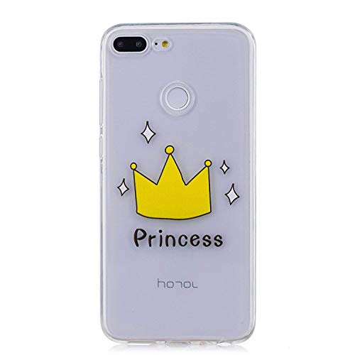 Coque Huawei Honor 9 Lite,Etui Housse Huawei Honor 9 Lite,Surakey Impression de Motif Transparente Souple Silicone Housse Etui Coque de Protection en TPU Bumper Case pour Huawei Honor 9 Lite, Princess