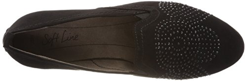 Softline 24261, Mocassini Donna Nero (Black)
