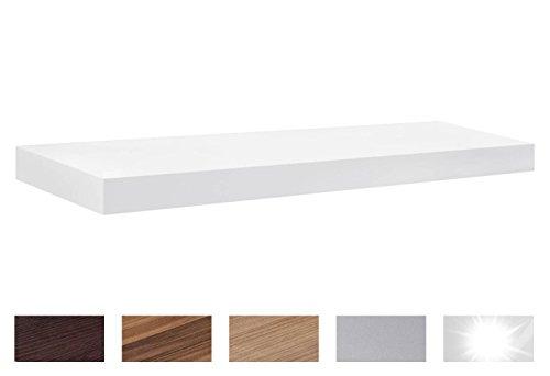 Regalraum - étagère flottante BOY | 9 tailles | 6 couleurs | 900x300x50 mm - blanc