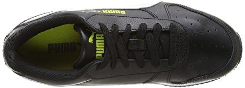 Puma Fieldsprint L, Baskets mode garçon Noir (Black)
