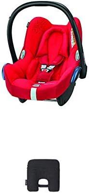 Bébé Confort Cabriofix Seggiolino Auto 0-13 kg, Ovetto Gruppo 0 +, 0-12 Mesi, Vivid Red, con Dispositivo Antia