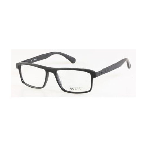 Guess Fine Rectangle Glasses in Matte Black - GU1792 BLK 54