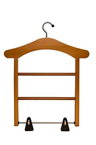 ARREDAMENTI ITALIA Schrankdamendiener MILADY, Holz - 2 Hängemöglichkeiten - Rockaufhänger - Farbe: Kirsche holz Ar-It il cuore del legno (Kirsche Wohnzimmer Garderobe)