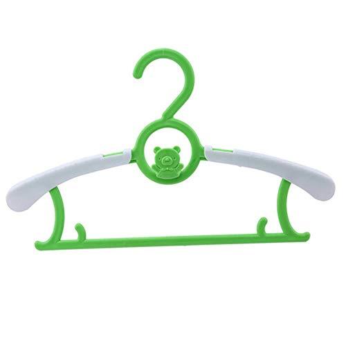CTOBB Neueste Einstellbare Kleiderbügel Rack-Kunststoff-Tuch Display-Aufhänger für Baby Erwachsene Kinder Kinderkleidung Wschetrockner hängend, Grün (Einstellbar Tuch Rack)