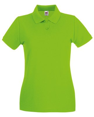 Grün Damen Polos (Lady-Fit Premium Poloshirt Fruit of the Loom neue Farben 2017 M Lime Green)