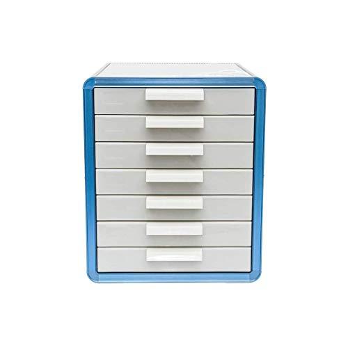 Ablageschränke Abschließbare Tabletop Office Desktop Schubladenschrank Data Storage Box Starke Kollision Widerstand organisatorische Anforderungen Aluminiumlegierung, MDF- - 28.6x34.6x33.8cm Bürobedar