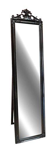 Livitat LV8752-B antik barock Ankleide-/Standspiegel Landhaus, 180 cm, schwarz