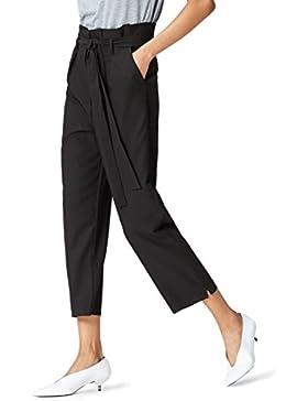 FIND Pantalone con Fiocco e Vita Alta Donna