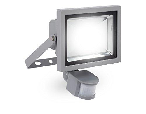 LED-Strahler 20 Watt mit Infrarot-Bewegungsmelder Flutlicht Baustrahler Scheinwerfer Strahler - POWLI231