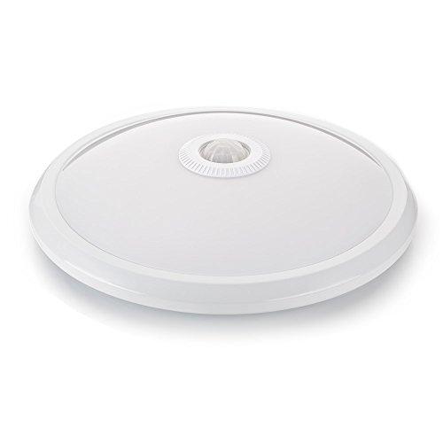 sweet-led Deckenleuchte Weiß mit Bewegungsmelder, 360° Sensor, 16W LED