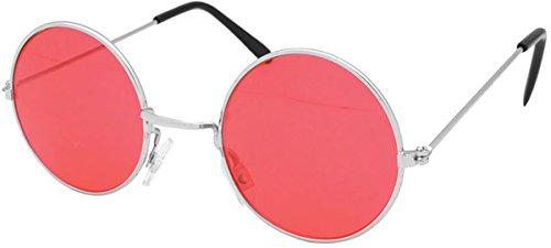 Unisex Erwachsene Kostüm Party Zubehör Pop Star John Lennons Style Brillen - Rot