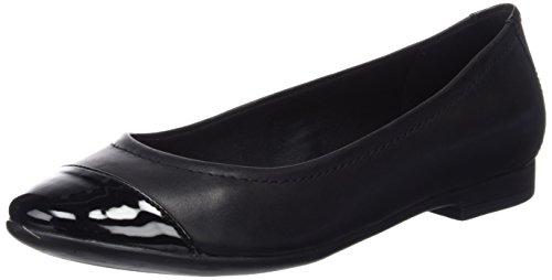 8aaa022e3fcf1a -25% Clarks Womens Atomic Haze Black Combi Leather Casual Shoes – 5 UK
