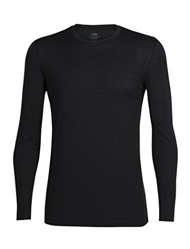 Icebreaker Herren Tech Lite LS Crewe T-Shirt, Black, XL
