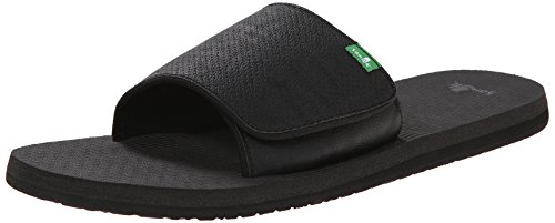 Sanük Beer Cozy Light Slide Shoes Men Blackout Größe 40 2016 Flip flops (Sanuk Sandalen Leichte)