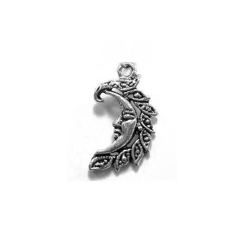 Charming beads pacco 10 x argento antico tibetano 25mm ciondoli pendente (luna) - (zx09470)