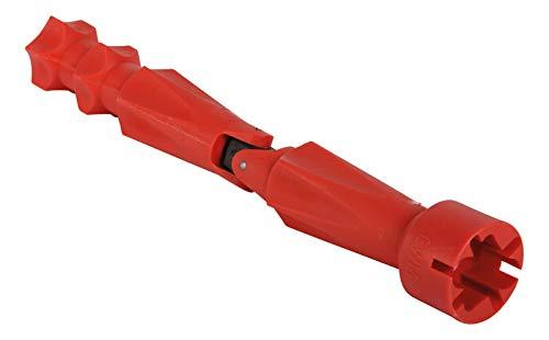 Calmwaters - WC-Sitz Montageschlüssel mit Gelenk für Flügelmuttern und Schraubenköpfe aus Kunststoff in Rot - 27LP2923 - Flügelmuttern Und Schrauben