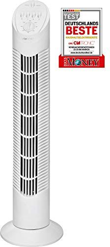 Clatronic T-VL 3546 Tower-Ventilator 75° oszillierend, 3 Geschwindigkeitsstufen, 120 Minuten-Timer