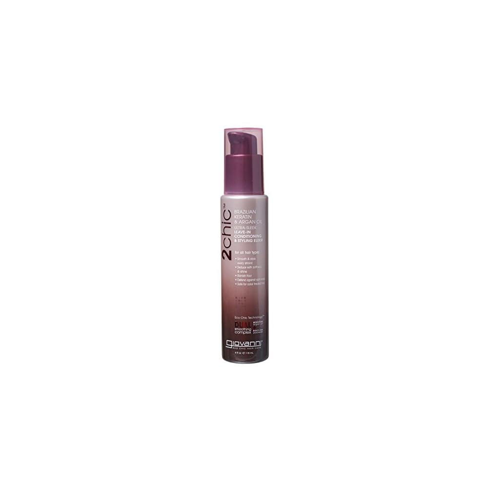 Giovanni Hair Care Products 2chic Brasilianisches Keratin Argan L Kollektion Styling Elixir Ohne Aussplen 120 Ml