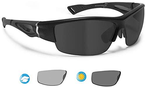 BERTONI Polarisierte Sportbrille Selbsttönend Herren Damen für Radfahren Skilaufen Golf Laufen Angeln - mod. P1001FTA