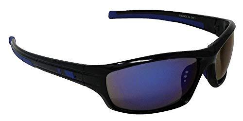 9965cc7aaa46b Equinox Sports Lunettes de soleil Miroir Blue-tinted Cat-3 UV400 Verres  incassables