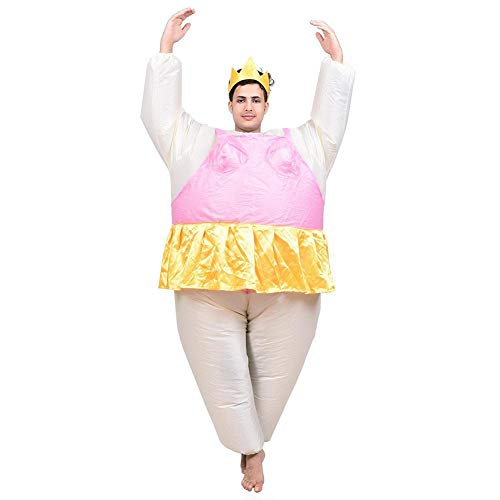 Disfraz Hinchable de Bailarina Inflatable Costumes Disfraces de Ballet Anime Inflables Street Cartoon Cosplay para Adultos (Hombre Gordo (Rosa)