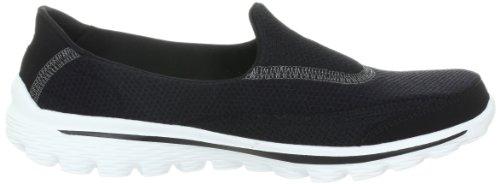 Skechers Go Walk 2, Sneaker Donna Nero (Black/White)