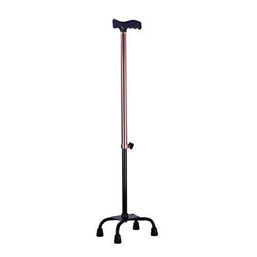 Cane Teleskopisch Sticks Erwachsene Crutch Quad Verstellbare Höhe Aluminiumlegierung tragbar Leicht T Griff,A - Cane Quad Faltbare