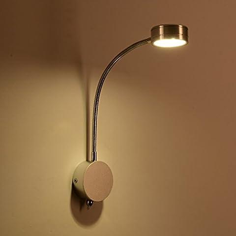 QKR&Lámpara de pared exquisita, Reading Lights LED lámpara de pared de dormitorio Den escritorio de oficina de pared minimalista moderna de pared creativo de la personalidad lámpara de pared