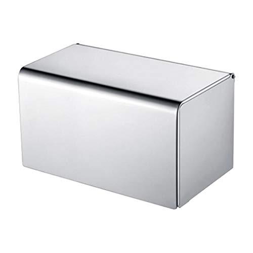 Fenteer Aluminium Toilettenpapierhalter, Toilettenpapierrollenhalter mit Schrauben Set - Licht, 20x13,5x13,2 cm