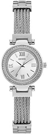 GUESS Womens Quartz Watch, Analog Display and Stainless Steel Strap - W1009L1