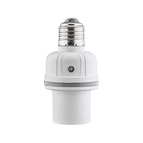 Goobay 55500 Portalampada E27 con Sensore di Suono e Luce, Bianco