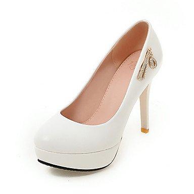 Les talons des femmes Printemps Été Automne Hiver Chaussures Club Bureau PU & Carrière Partie & robe de soirée noir talon aiguille rose blanc White