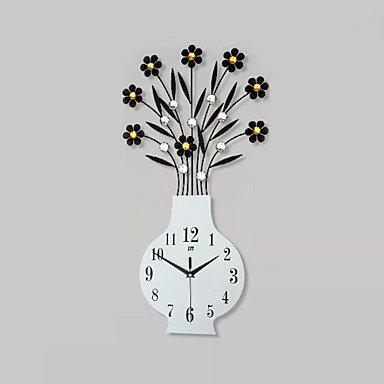 Y & M nouveauté moderne/contemporain Horloge murale, floral/caractères/Scene/mariage/Famille verre/metallo59 cm x 31 cm (23 in x