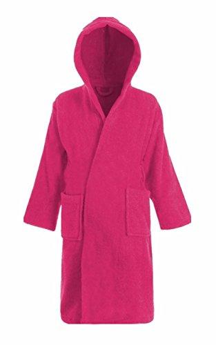 Fast Fashion® Femmes À Capuche Peignoir De Bain Dames 100% Coton Habillage Robe Peignoir De Bain