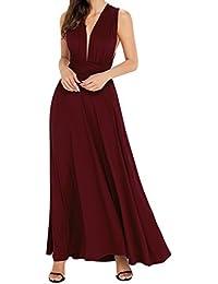 EasyMy Robe de soirée longue pour femme Robe de soirée de demoiselle d'honneur à plusieurs étages