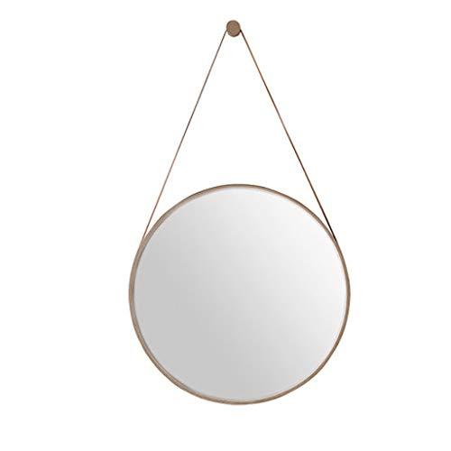 -Up-Spiegel Schminkspiegel Nordic runde Wand Badezimmerspiegel, Gold Kosmetikspiegel, Schlafzimmer Kosmetikspiegel, Schminkspiegel, Rasierspiegel, hängenden Spiegel, Badezimmer dek ()