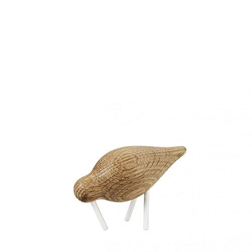 Normann Copenhagen 100154 Shorebird Figurine en Bois de, Acier Inoxydable, Blanc, 11,5 x 4,5 x 7,5 cm