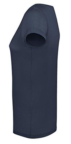 YTWOO Damen T-Shirt Aus 100% Modal, Damen Shirt mit U-Ausschnitt, Leichtes Damen T-Shirt Aus Naturfasern, Zellolusefaser French Navy