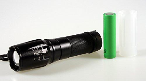 Preisvergleich Produktbild Ultrafire Fokus R6 LED Flashlight Taschenlampe fokussierbare Cree LED inkl.Sony US18650V3 Akku & 18650 Akku-Adapter & 4x AAA Alkaline 1,5V Batterien und vielen extras