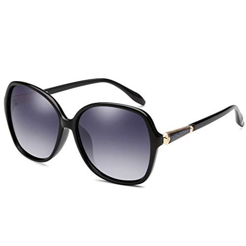 WYJW Sonnenbrille-Art- und Weisedamen, welche die Glas-großen Rahmen-polarisierten UV400 Schutz-tragbaren Strand Eyewear Fahren