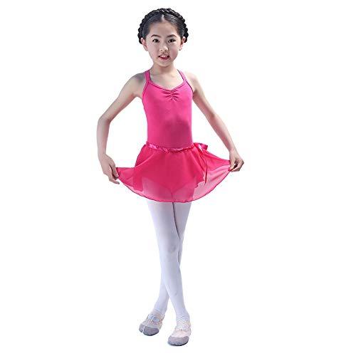 Kostüm Wettbewerb Baby - Kindertanzkostüme für Mädchen Wettbewerb, Trikotanzug Ballett/Tanz/Gymnastik Tutu Rock Dancewear Kostüm ärmelloser Body Jumpsuit