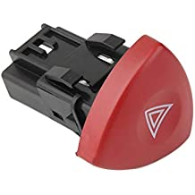 Ruirain-ES Emergency Hazard Flasher Warning Light Switch Warnblinker Schalter For Renault Laguna Master Trafic
