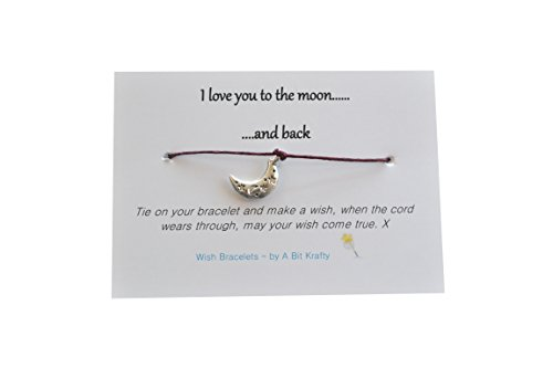 A Bit Krafty Wish Bracelet, Love you to the moon……and back