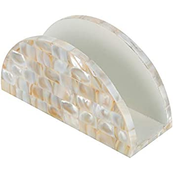 ASSEMBLAGE Mother of Pearl Tissue Paper Holder Ivory