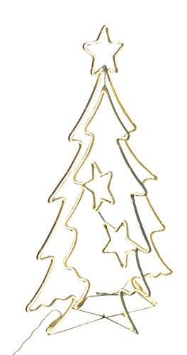Tosend servizi albero di natale 2d-3d con stelline smd neon led 115 cm - altezza: 115 cm - addobbi natalizi - luci di natale