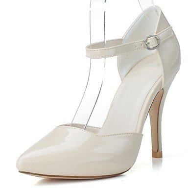 Rtry Mujer Zapatos De Charol Con Tacones Formales Spring Summer Part & Amp; Vestido De Noche Stiletto Heel Almond Black Ruby White 4 In-4 3 / 4en Us5 / Eu35 / Uk3 / Cn34