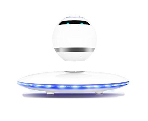 BUY-TO Floating Wireless-Lautsprecher Tragbarer Bluetooth-Player Intelligente Sprache Weihnachts Geburtstagsgeschenk,White